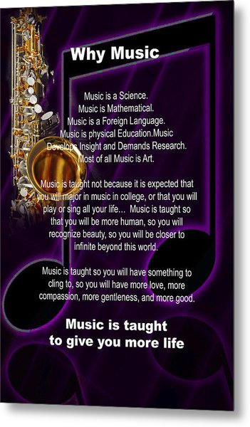 Saxophone Photograph Why Music For T-shirts Posters 4819.02 Metal Print