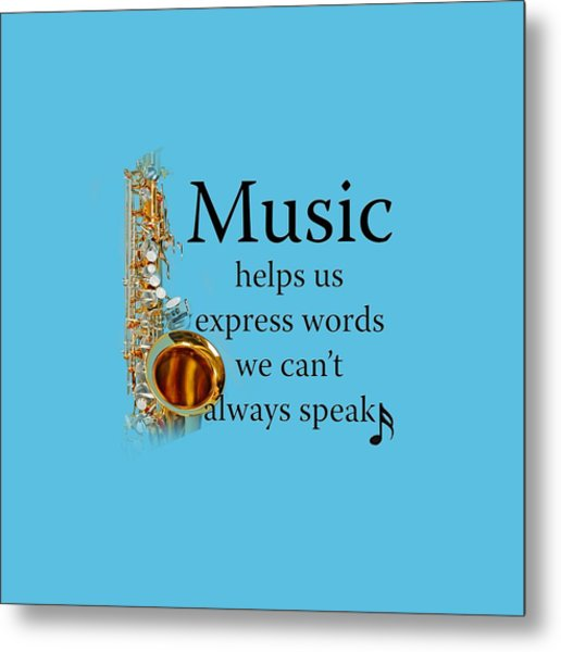 Saxophones Express Words Metal Print