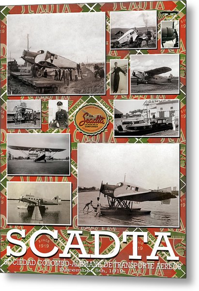 Scadta Airline Poster Metal Print