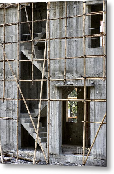 Scaffolds And Stairs Metal Print by Kathy Daxon
