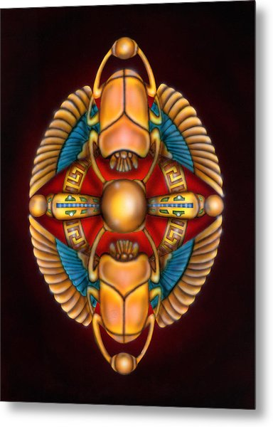 Scarab Beetle Design Metal Print