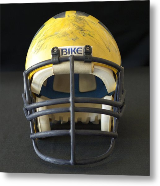 Scarred 1980s Wolverine Helmet Metal Print