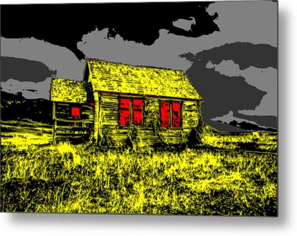 Scary Farmhouse Metal Print