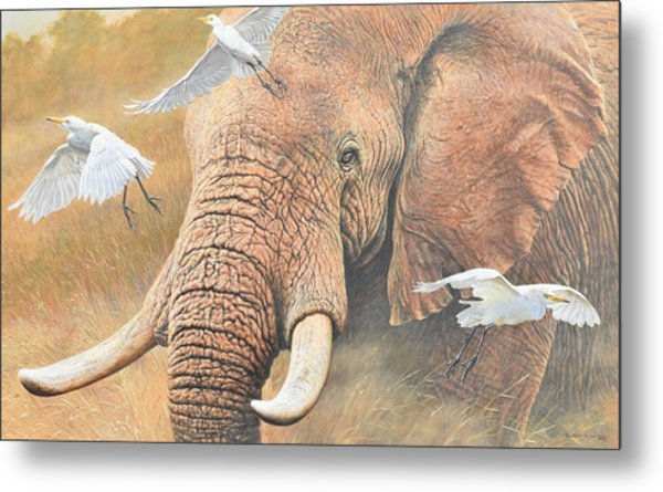 Metal Print featuring the painting Scatter by Alan M Hunt