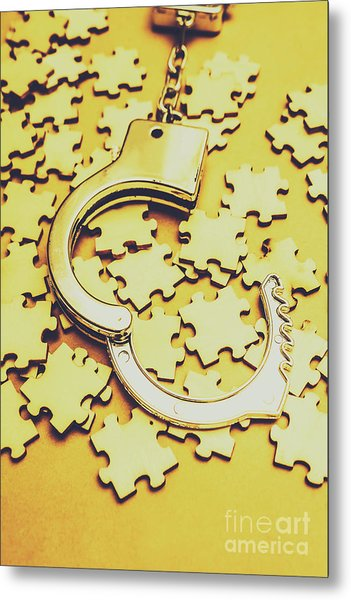 Scattered Clues In A Unsolved Investigation  Metal Print