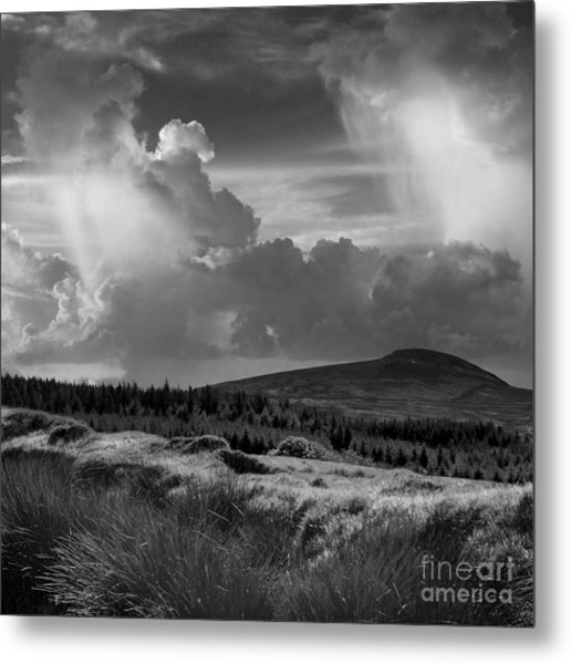 Scattering Clouds Over The Cronk Metal Print