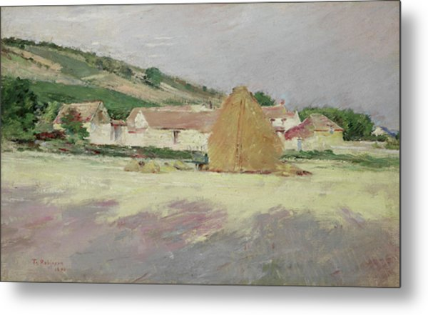 Scene At Giverny, 1890 Metal Print