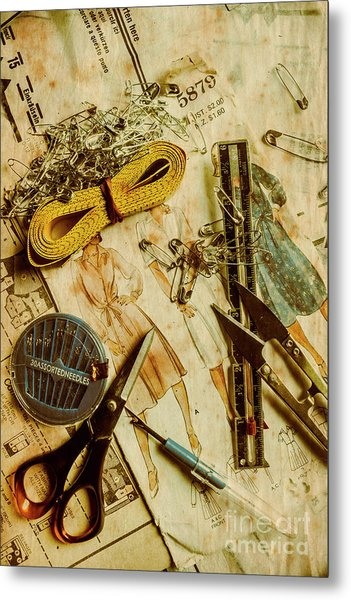 Scene From A Fifties Craft Room Metal Print