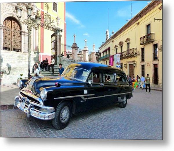 Funeral Car In Guanajuato Metal Print