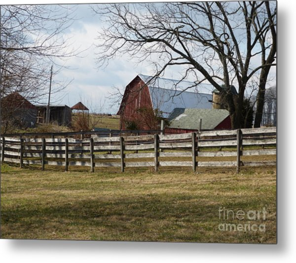 Scene On The Farm Metal Print