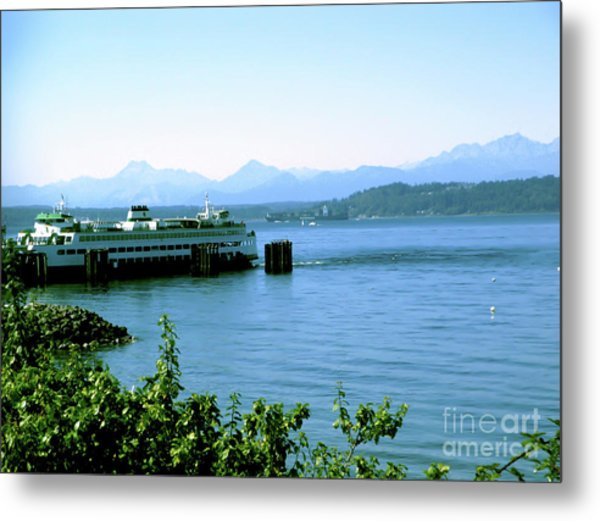 Scenic Ferry Image Metal Print