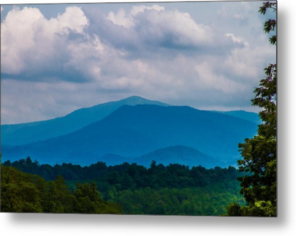 Scenic Overlook - Smoky Mountains Metal Print by Barry Jones