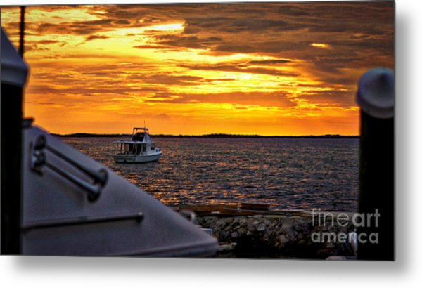 Scenic Sunset On The Keys Metal Print by Dieter  Lesche