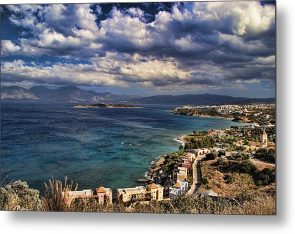 Scenic View Of Eastern Crete Metal Print