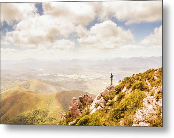 Scenic View Of Mt Zeehan, Tasmania, Australia Metal Print