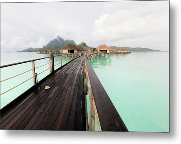 Scenic Walk To The Bungalow Metal Print
