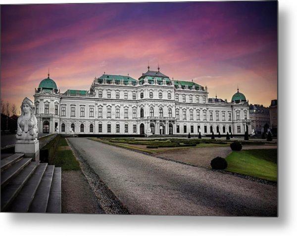 Schloss Belvedere Vienna Metal Print