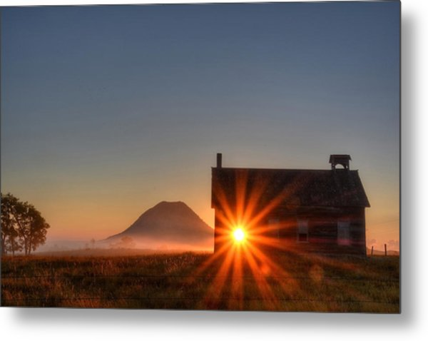 Schoolhouse Sunburst Metal Print