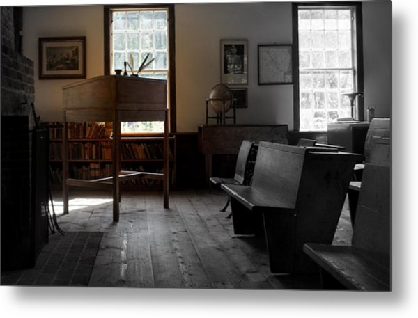 Schoolroom 1 Metal Print by Lois Lepisto