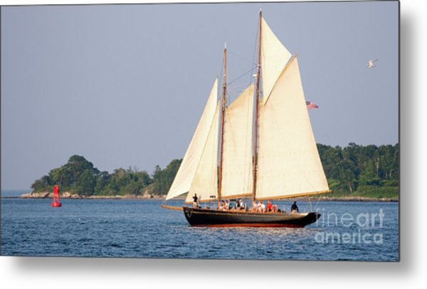 Schooner Cruise, Casco Bay, South Portland, Maine  -86696 Metal Print