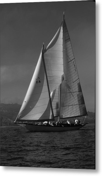 Schooner In Bay 2 Metal Print