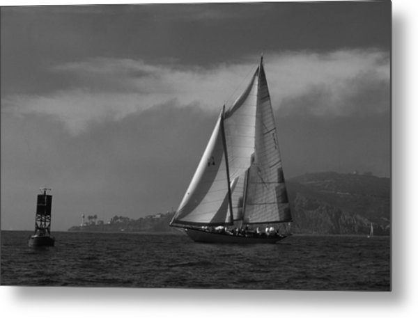 Schooner Off Point Loma Metal Print