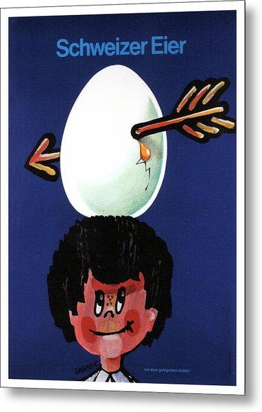 Schweizer Eier - Swiss Eggs - Vintage Advertising Poster Metal Print