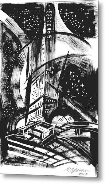 Sci Fi City Metal Print
