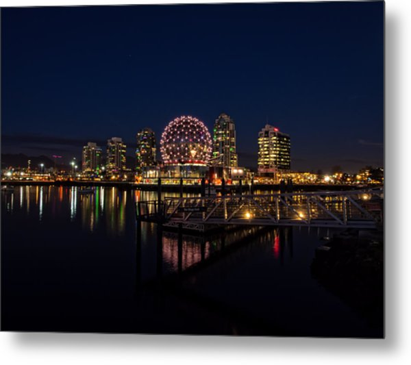 Science World Nocturnal Metal Print
