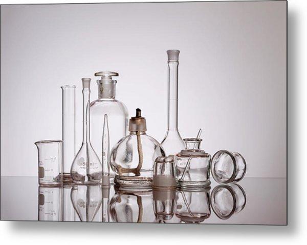 Scientific Glassware Metal Print