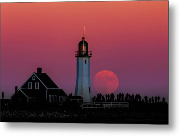 Scituate Supermoon Metal Print