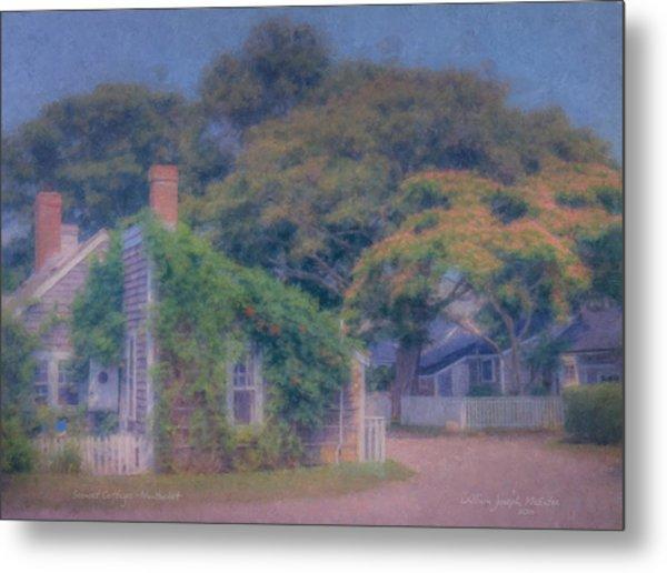 Sconset Cottages Nantucket Metal Print