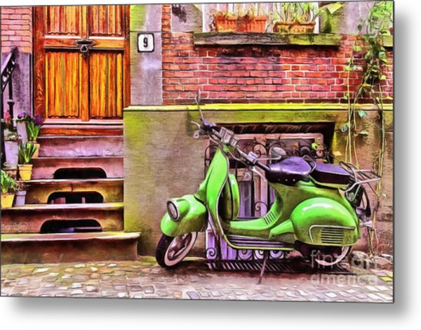 Scooter Parking Only Metal Print