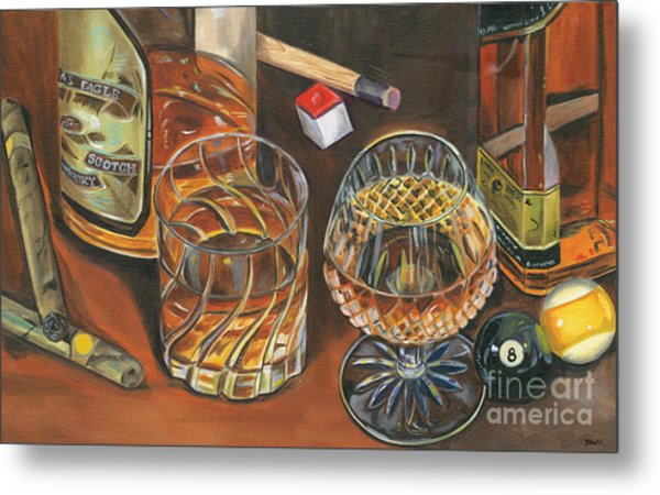 Scotch Cigars And Poll Metal Print