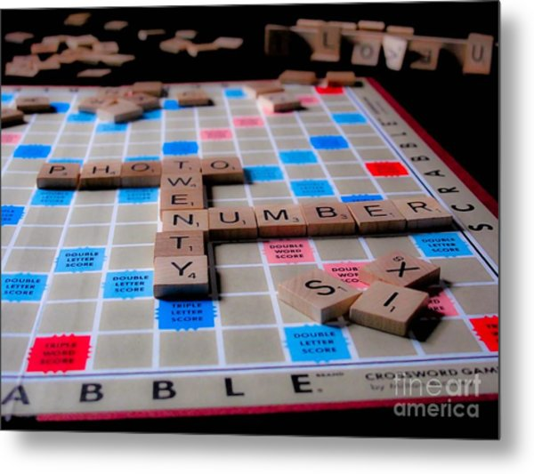 Scrabble Metal Print