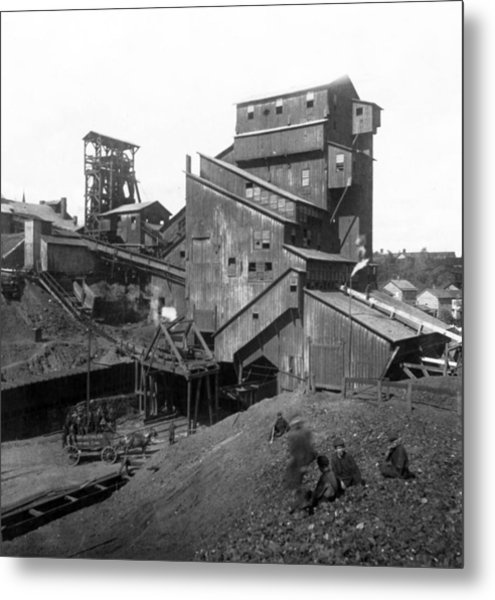 Scranton Pennsylvania Coal Mining - C 1905 Metal Print