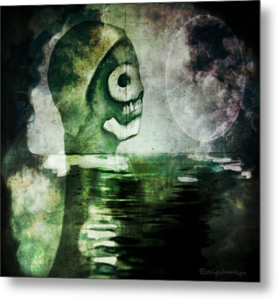 Metal Print featuring the digital art Scream Bloody Murder by Delight Worthyn