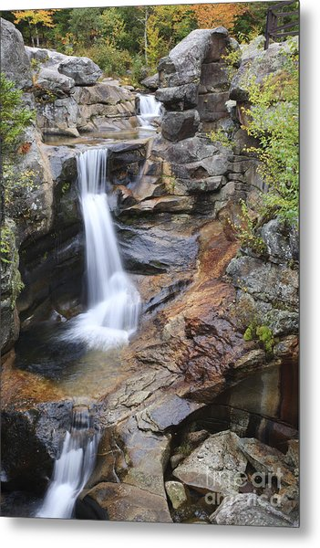 Screw Auger Falls - Maine  Metal Print