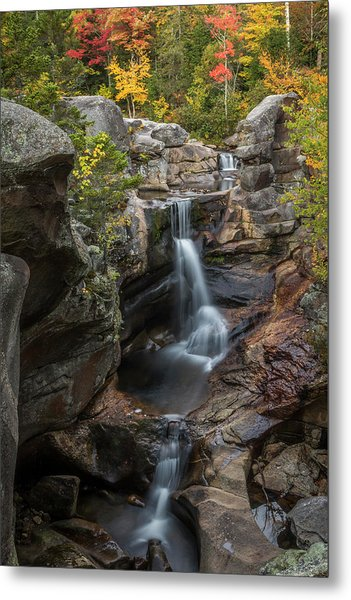 Screw Auger Falls In Autumn Metal Print