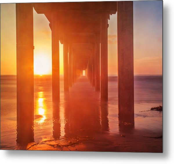 Scripps Pier Sunset Metal Print