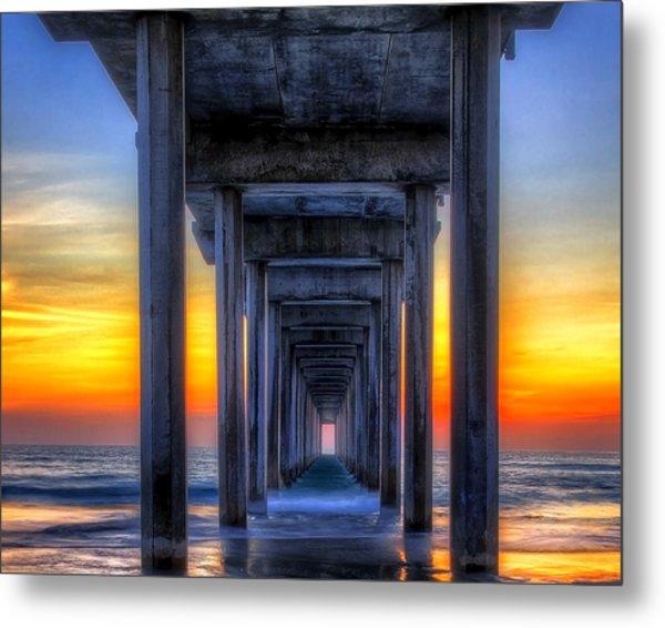 Scripp's Pier Sunset La Jolla California Metal Print