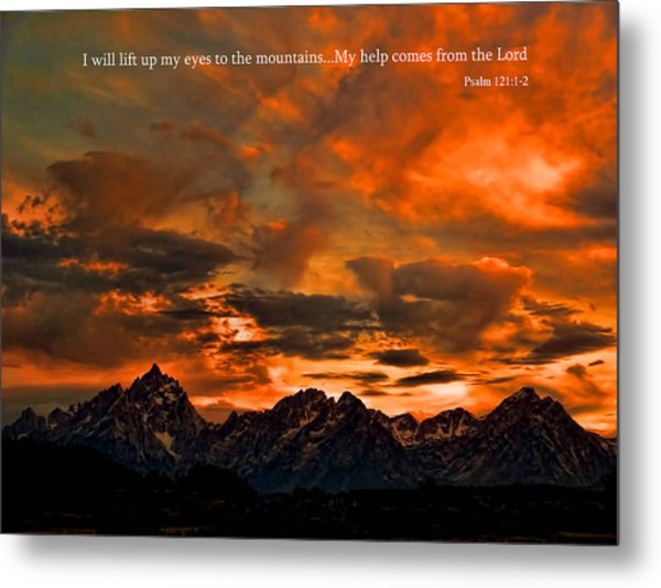 Scripture And Picture Psalm 121 1 2 Metal Print