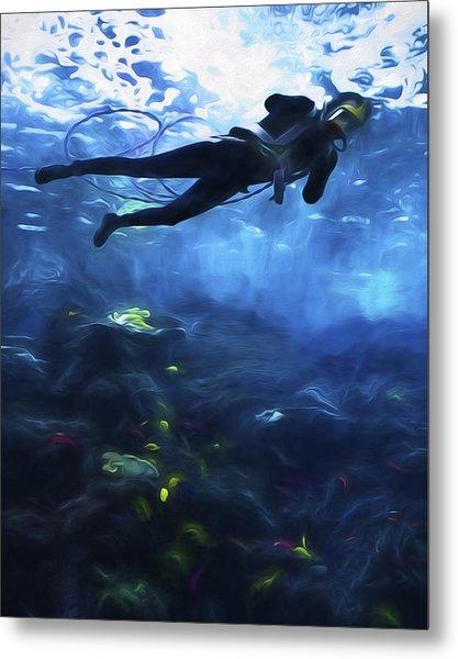 Scuba Diver Metal Print