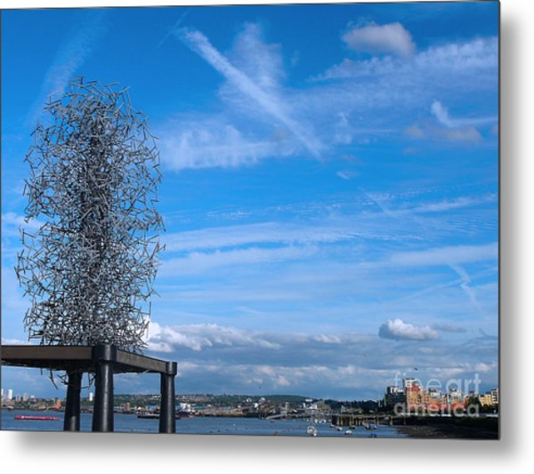 Sculpture, Skyline And Docs Metal Print