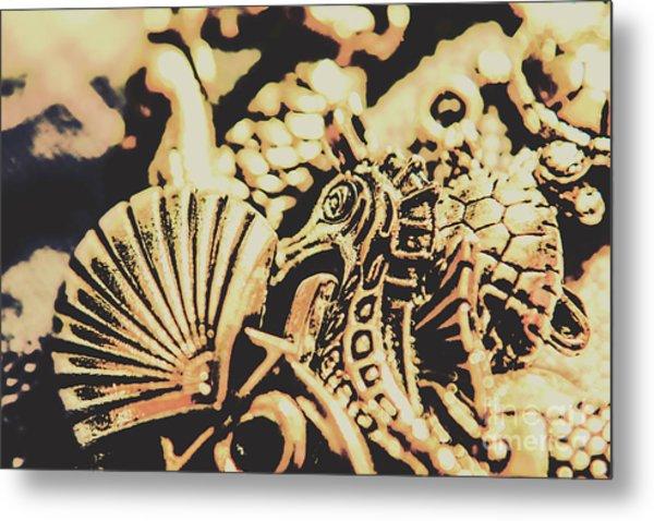 Sea Abstract From The Nautics  Metal Print