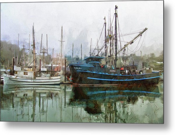 Sea Breeze And Lady Law Metal Print