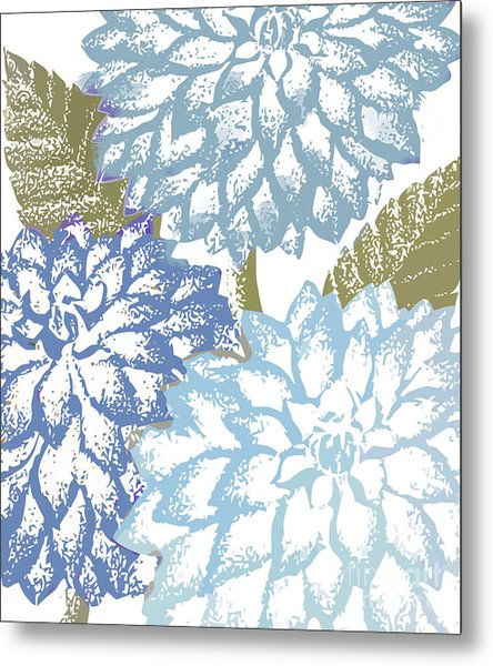 Sea Dahlias I Metal Print