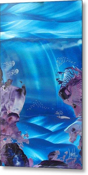 Sea Fan Reef Metal Print by Danita Cole