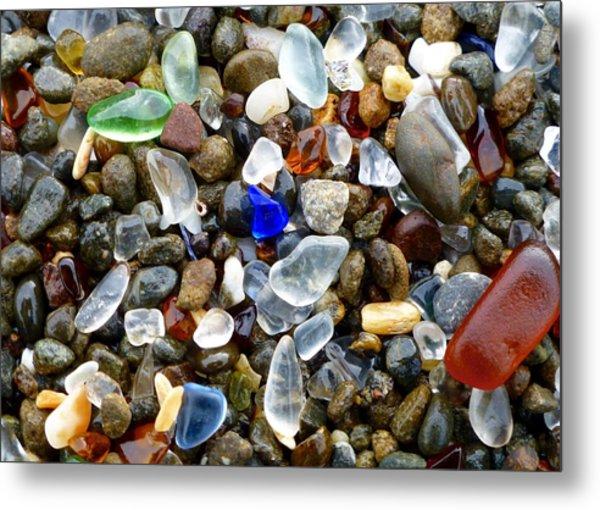 Sea Glass Beauty Metal Print