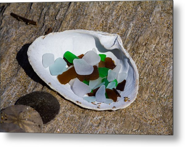 Sea Glass Treasure  Metal Print